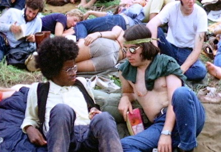 Hippies at Woodstock Music Festival, 1969. Photo by Derek Redmond and Paul Campbell.