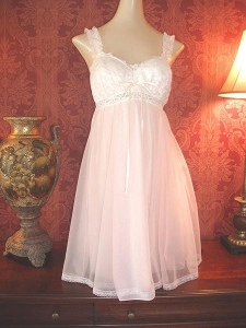 A babydoll dress on a mannequin.