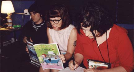 Bratmobile. Photo from now-defunct band website.