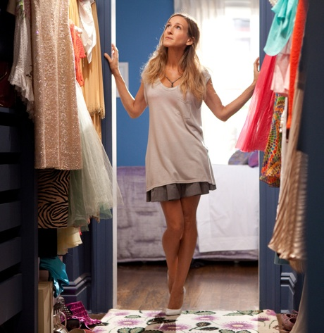 Carrie Bradshaw and her closet.