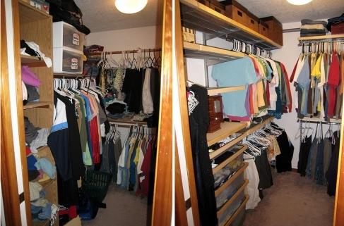 Closet photo by Mr. Thomas.