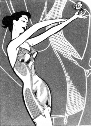 A corselette advertisement from the 1950s.