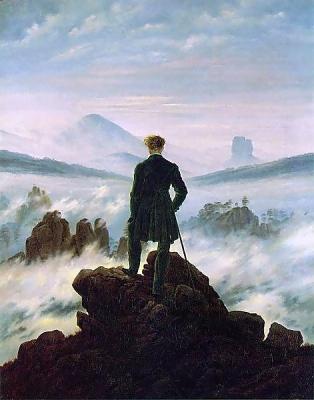 Der Wanderer über dem Nebelmeer by Caspar David Friedrich.