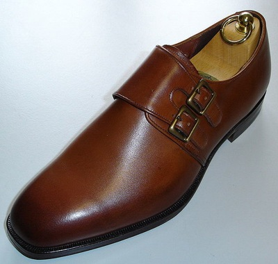 A man's double strap monk dress shoe
