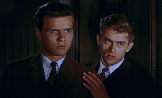 Richard Davalos and James Dean in East of Eden.