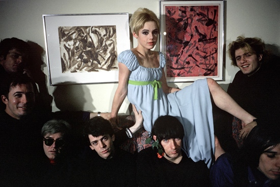 Edie Sedgwick and the Velvet Underground.
