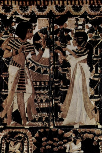 Painting from Tutankhamen's tomb.