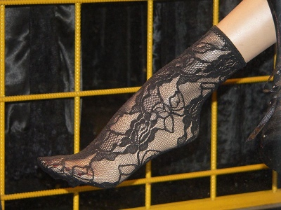 Goth lace sock. Photo by Rama.