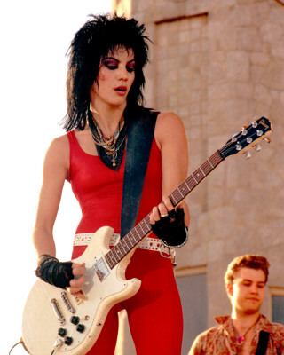 Joan Jett with a mullet hairstyle.