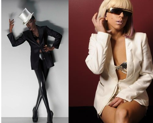 Lady Gaga vs. Grace Jones.