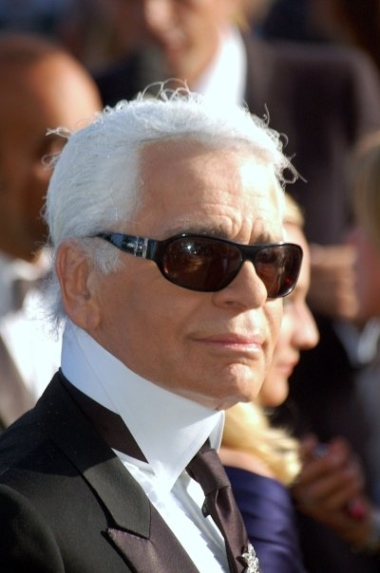 Karl Lagerfeld at Cannes. Photo by Georges Biard.