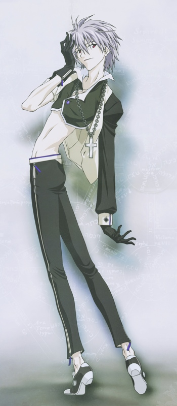 Kaworu Nagisa as a Gothic Lolita. From Evangelion's 2008 wall calendar.