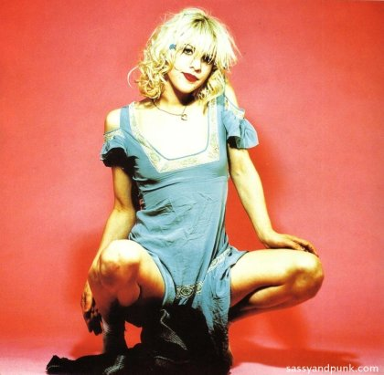 Courtney Love as a Kinderwhore.