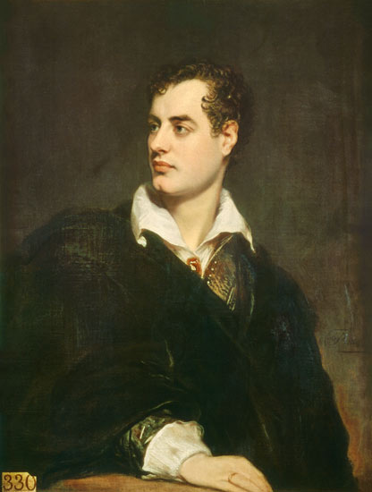 Lord Byron, romantic poet,