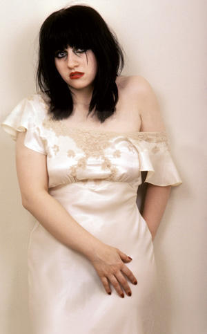 Lydia Lunch in white.