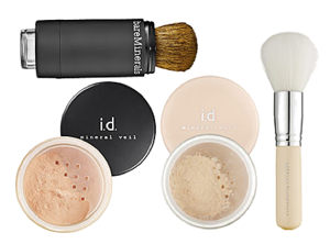 Bare Escentuals mineral veils and brushes.