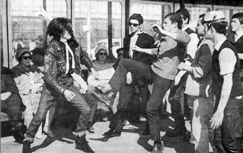 Mods vs Rockers.