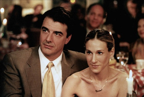 Mr. Big (Chris Noth) and Carrie (Sarah Jessica Parker) in a still from season 2.