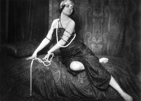 Pola Negri in a flapper costume.