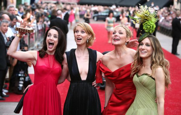 Sex and the City main cast, from left to right: Kristin Davis, Cynthia Nixon, Kim Cattrall and Sarah Jessica Parker.