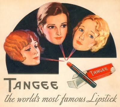 An ad for Tangee lipstick, 1931.