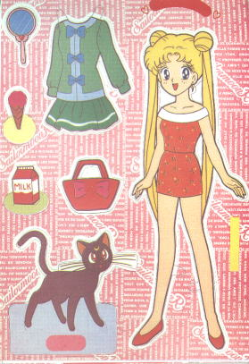 Sailor Moon paper doll