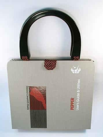 Vintage software handbag. Photo by Laura Edman.