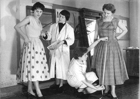 Dress workshop in Dresden, March 1956.