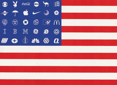 Adbuster's brand flag.