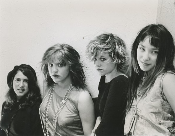 Kat Bjelland and Courtney Love in a press photo for Sugar Babydoll. Photo by Erik Meade.