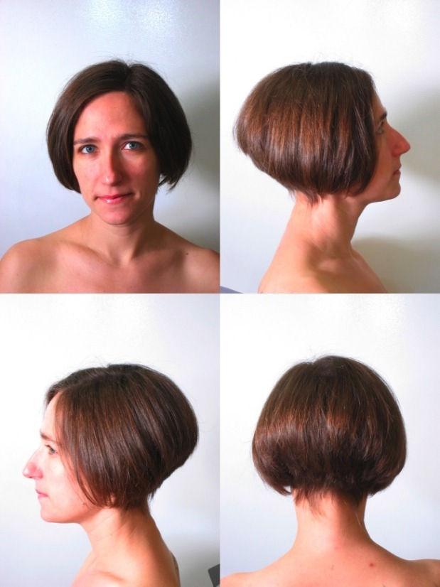 A bob haircut from multiple angles. Photo by Thirteen of Clubs.
