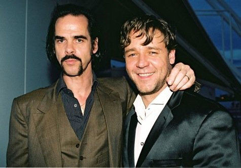 Nick Cave and Russell Crowe.
