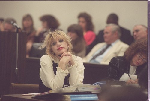 Courtney Love in court.