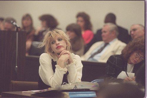 Courtney Love in court.