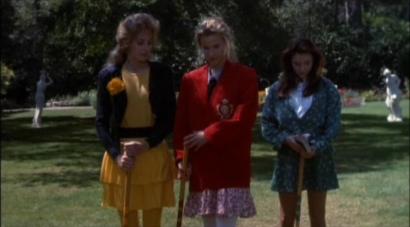 Heathers, left to right: McNamara, Chandler, Duke.