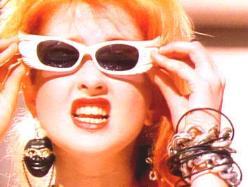 Cyndi Lauper with sunglasses