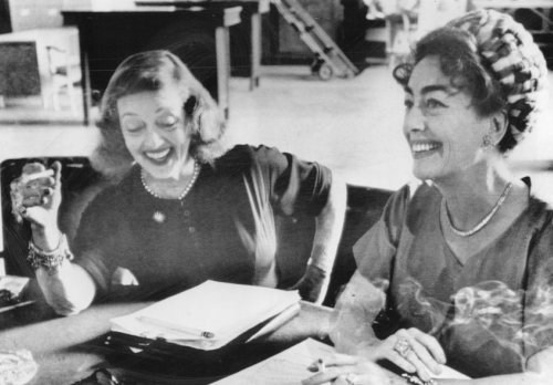 Bette Davis with frenemy Joan Crawford.