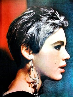 Edie with silver hair.