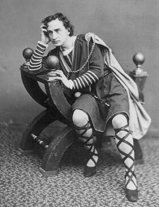 Edwin Booth as Hamlet.