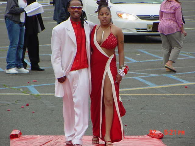 A couple at prom.