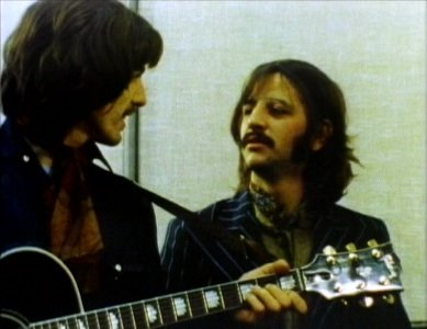 George Harrison and Ringo Starr.