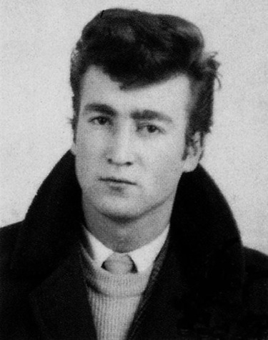 John Lennon as a teddy boy.
