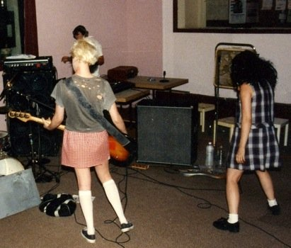 Kathi Wilcox and K. Hanna in Bikini Kill.