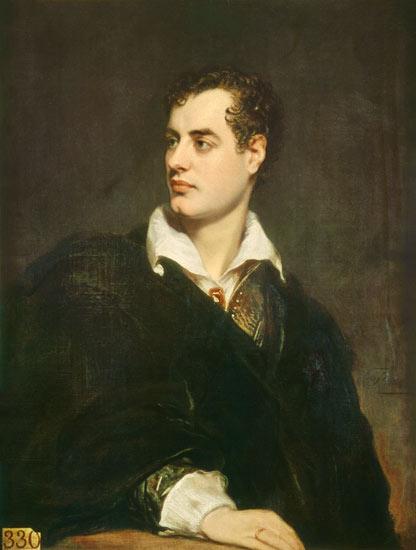 Lord Byron, romantic poet,