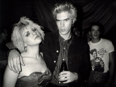 Courtney Love with Jim Jarmusch in 1986.