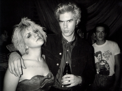 Courtney Love and Jim Jarmusch in 1986.