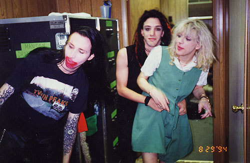 Love, Manson and Reznor, 1994.
