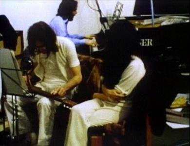 Paul McCartney, John Lennon and Yoko Ono. Still from Let It Be.