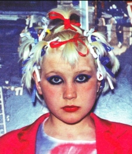 Girl with a punk hairstyle, circa 1976. Photographer unknown.