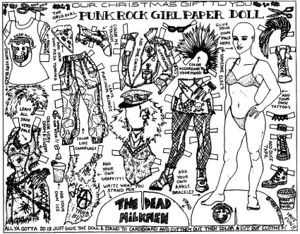 punk rock paper doll